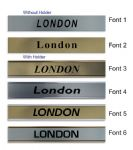 London Name plate for World Time Zone wall Clocks | Custom City Sign